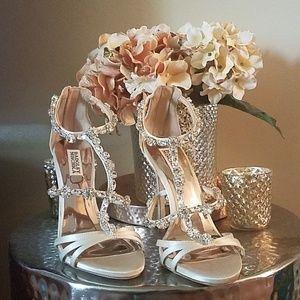 Badgley Mischka Thelma t strap embellished sandals